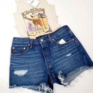 Levi's 501 mid-rise jean shorts size 29 NWT